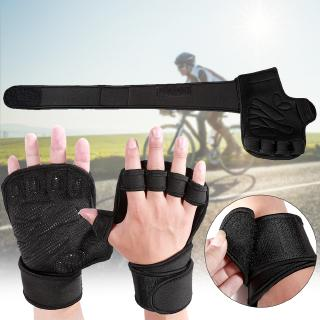Shock Absorbing Non-slip Bike Fingerless Gloves Suitable for Cycling Boxing M