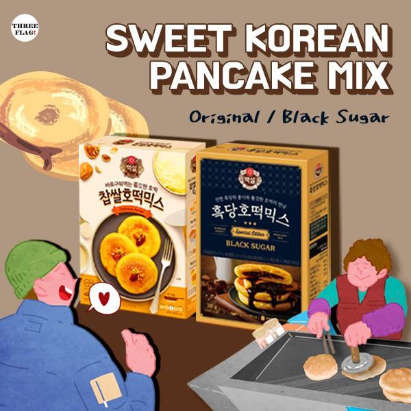 Beksul Sweet Korean Pancake Mix Hotteok Original 400g Black