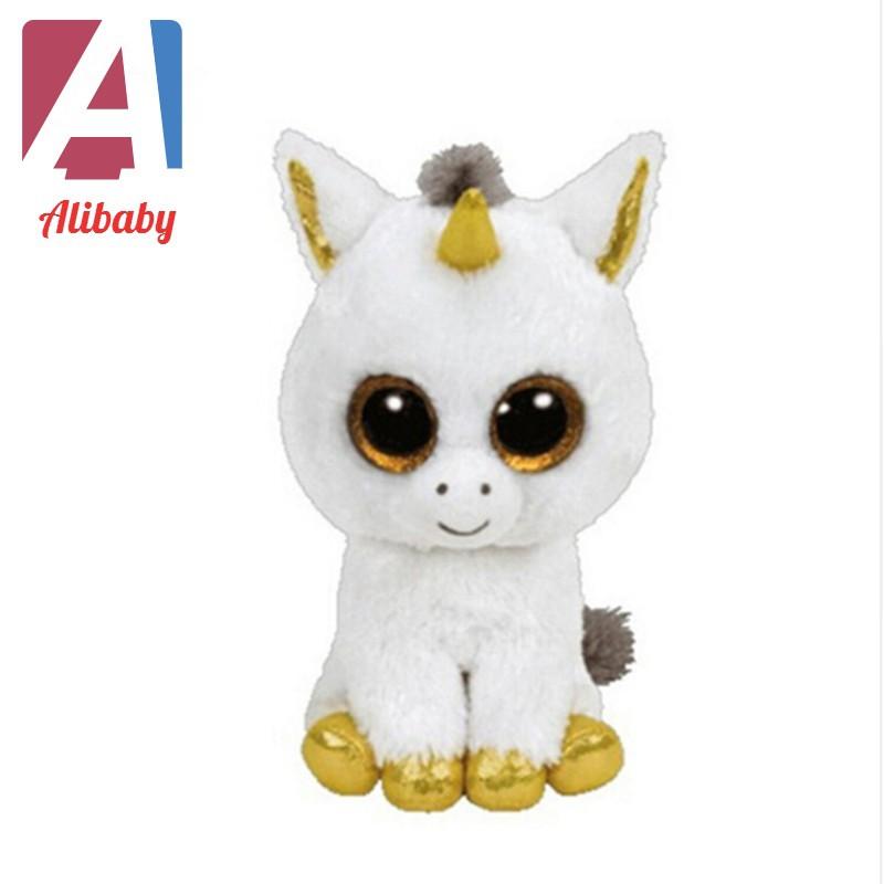 edf35067d79 Cute Black white penguin TY Beanie Boos Plush Stuffed Toys Glitter Eyes