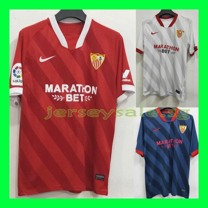 Top Quality 2020 2021 Seville Fc Home Away Third Football Shirt Soccer Sevilla Jersey Shirt S Xxl Shopee Singapore