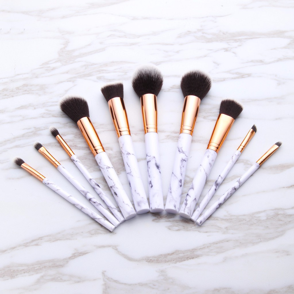 Po Marble Printed Makeup Brush Set