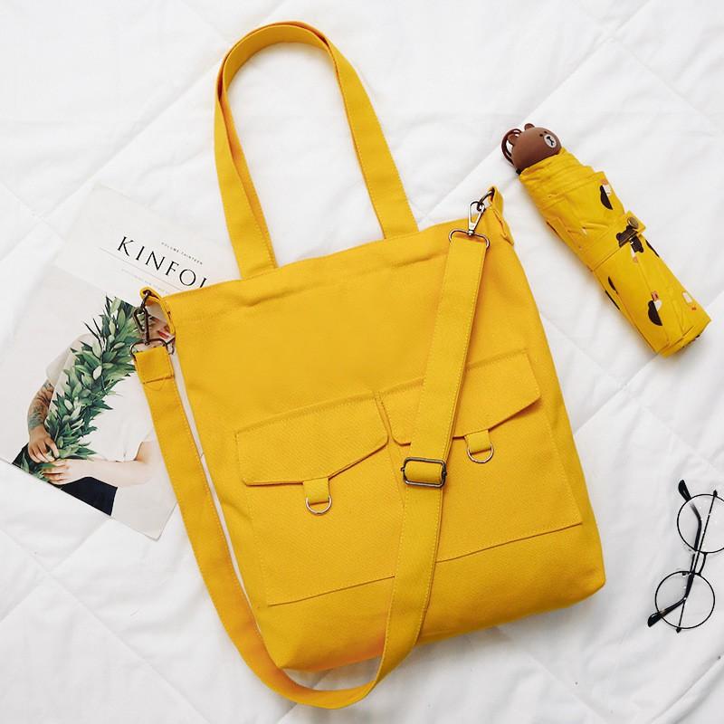 4 Colors Simple Harajuku Portable Canvas Bag Diagonal Package Shopee Singapore