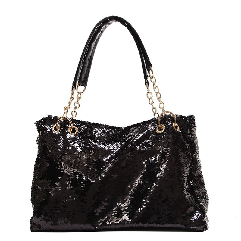 35d671e26f Reversible Sequin Women Tote Bag Glitter Sequins Lady Shoulder Bag | Shopee  Singapore