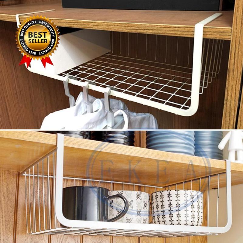 Iron Mesh Shelf Basket Cupboard Cabinet, Kitchen Cupboard Hanging Shelf