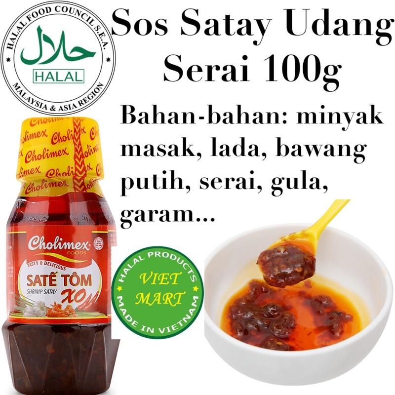 Vietnam Halal Shrimp Sate Sauce Sos Sate Udang 100g 450g Shopee Singapore