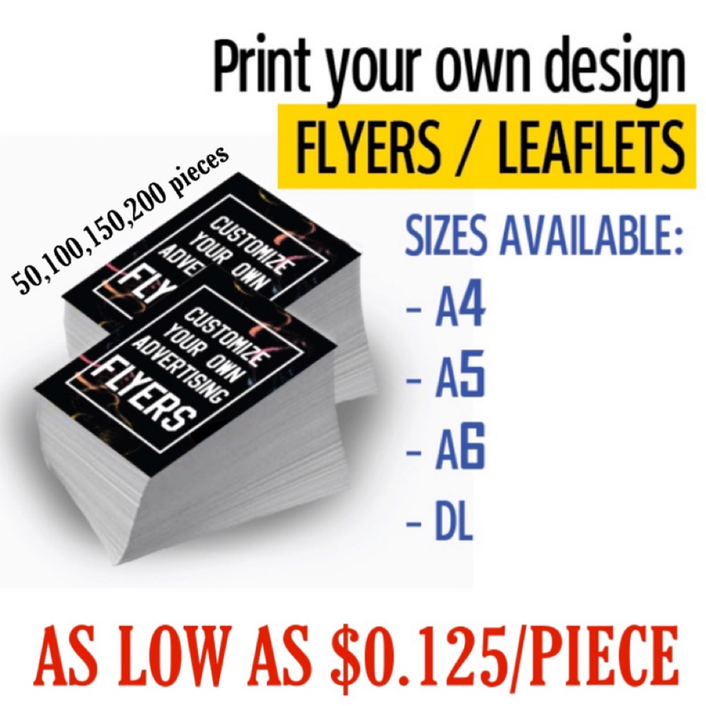 Print Flyer Leaflet Customize Your Own
