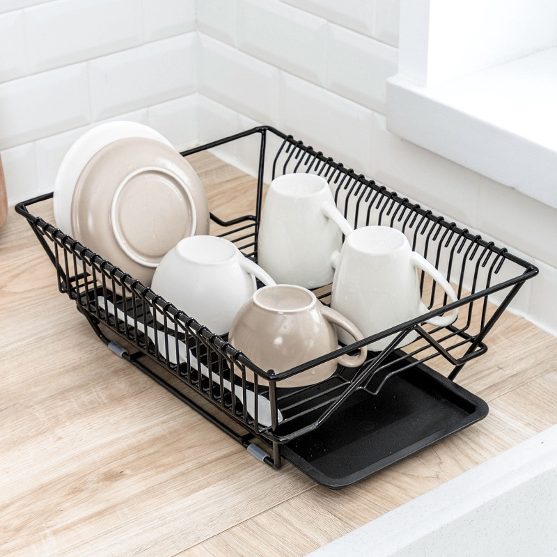 Dish Drainer Drying Rack Removable Utensil Holder Small Dish Rack For Kitchen Counter Iron Shopee Singapore