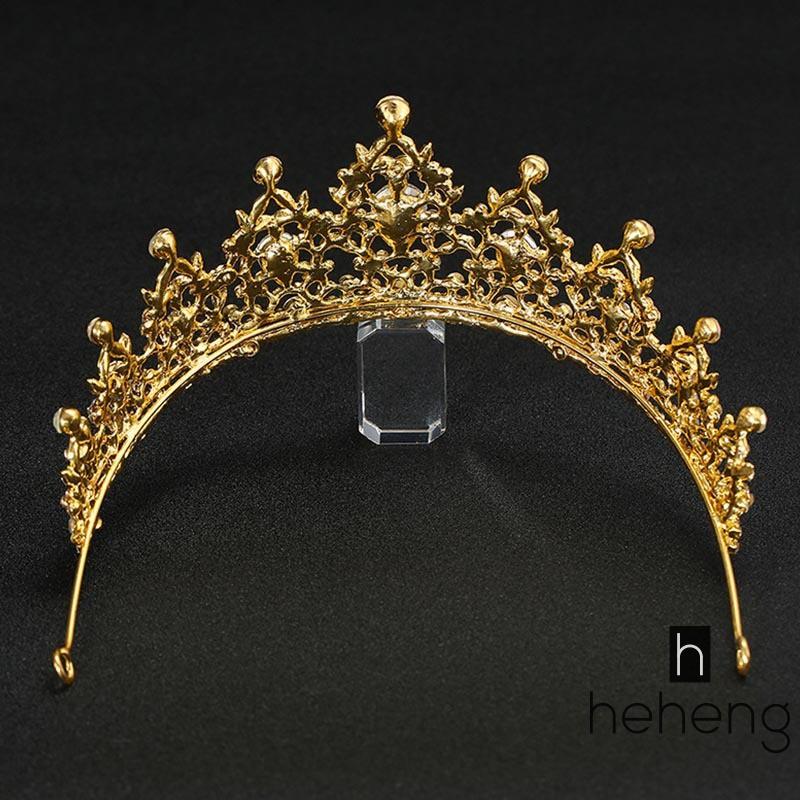 Fashion Crystal Wedding Tiara Pearl Jewelry Queen Headband Rhinestone Prom Cute