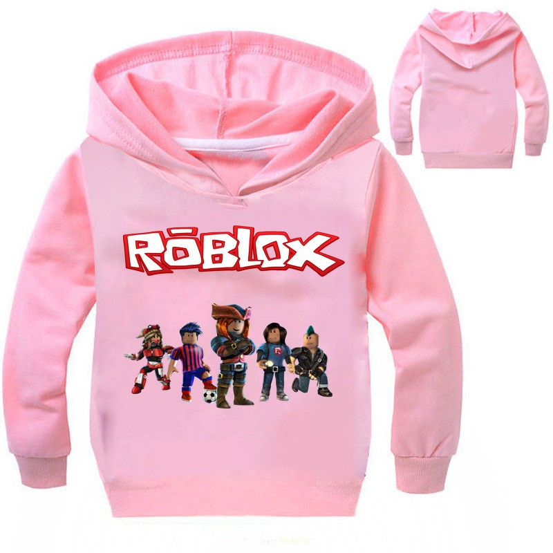 50b2168c53f7e ROBLOX Kids Boys Girls Hooded Jacket Outerwear Autumn Hoodies Sweatshirt  Red