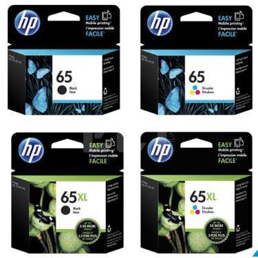 HP 65 Black Tri Color 65XL Black Tricolor Original Genuine