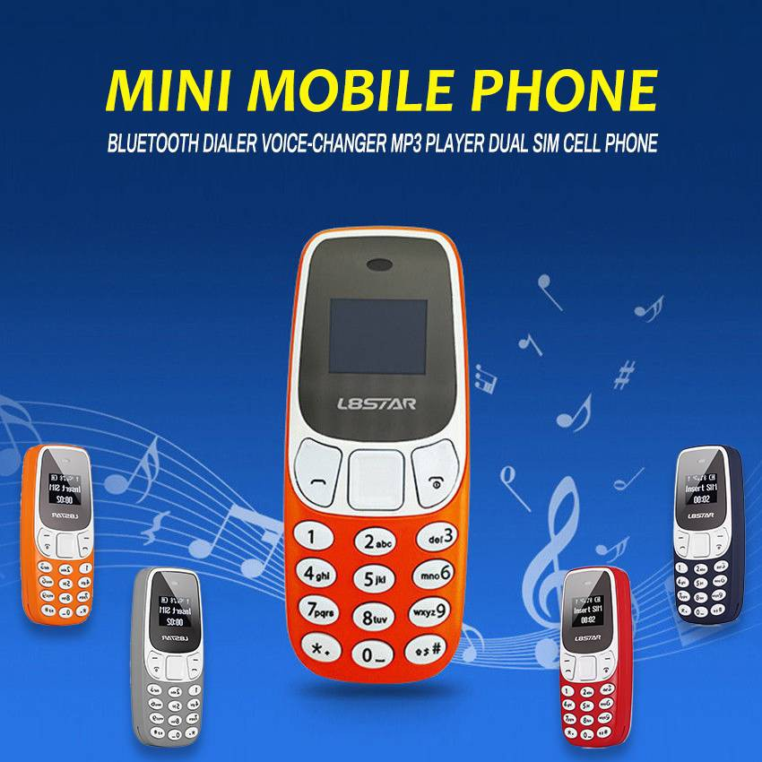 Mini Mobile Phone Bluetooth Dialer Voice-Changer MP3 Player Dual SIM Cell  Phone BM10