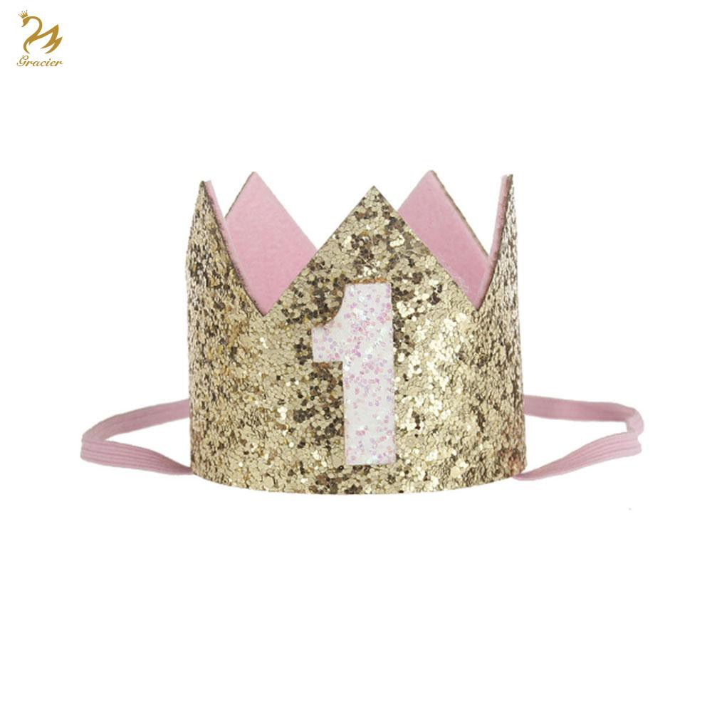 Hairband Birthday Crown Baby Glitter Cute Infant Ingenious Toddler Headwear-Gift