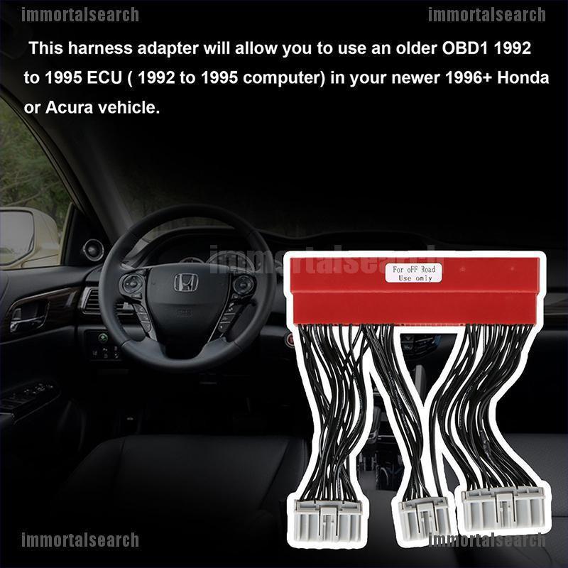 OBD2A to OBD1 Conversion ECU Jumper Harness Adapter For Honda Accord Acura Civic