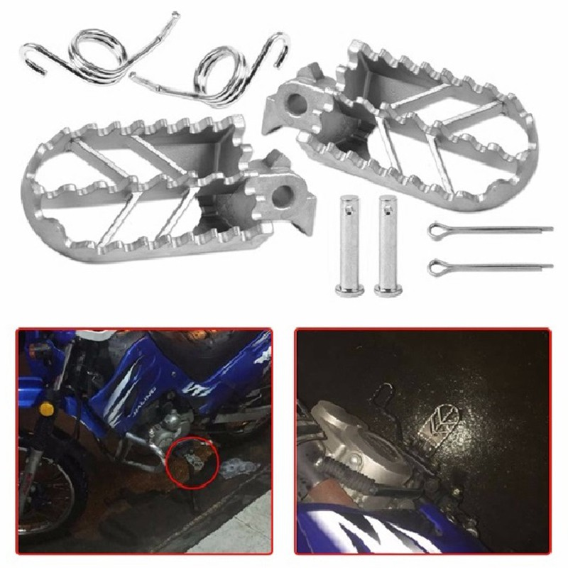 Honda Kawasaki Yamaha Suzuki New Universal 2X Motorcycle Front Foot Peg Footrest