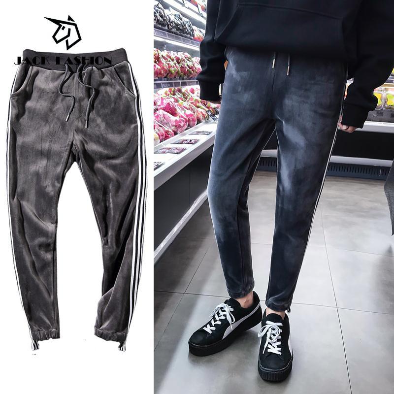 51fc4d8b6a5  JACK FASHION Ready stock Korean Fashion Men Plus size plus velvet thick  warm me