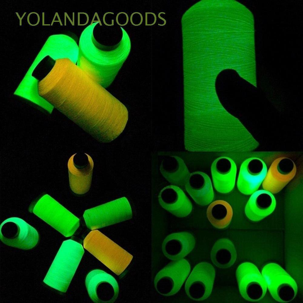 1000yd Luminous Spool Glow In The Dark Machine DIY Embroidery Sewing Thread HOT
