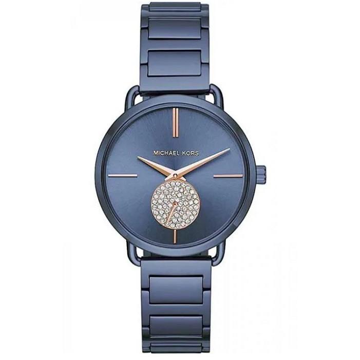 a23ea1d69 Michael Kors MK3680 Women Portia Crystallized Blue Steel Watch | Shopee  Singapore