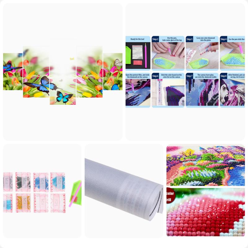 5D DIY Full Drill Diamond Painting Embroidery Cross Stitch Mosaic Craft Kit #8FR