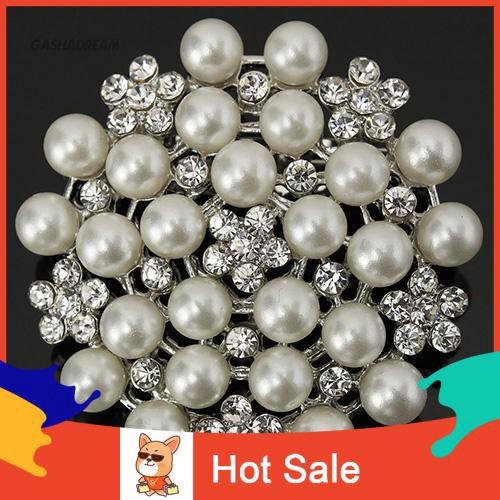Women Stylish Shining Crystal Inlayed Brooch Pin Badge Fashion Jewelry LT