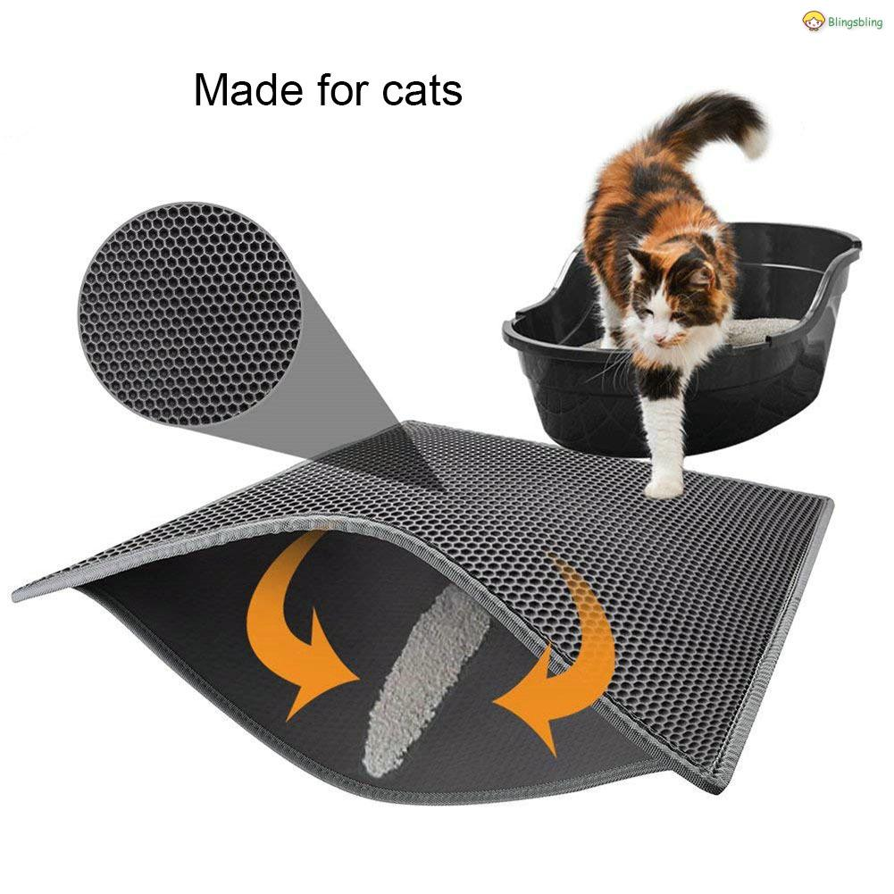Cat Litter Tray Mat Waterproof Layer Puppies Cushion Double Filter Design  Resin