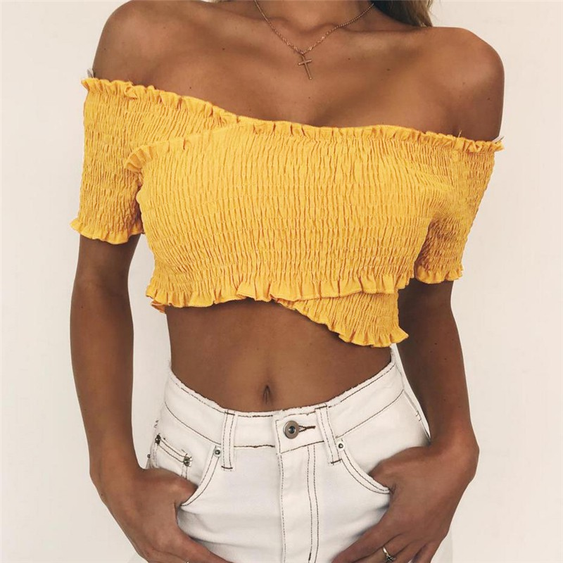 7a8eb4d6c5a8d INSTOCKS Ling one shoulder Toga Ribbed Cropped top