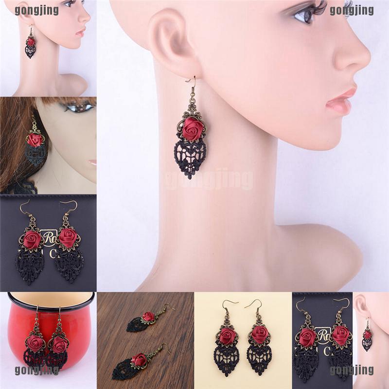 New Fashion Aestheticism Gothic Victorian Retro Lace Vintage Pendant Earring es