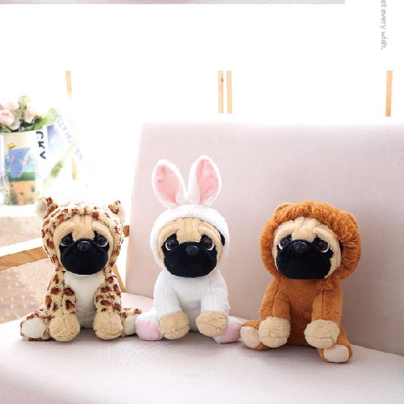 Realistic Pug Stuffed Animal, New Large Plush Toys 10 Pug Dog In 6 Costumes Cuddly Soft Toy Shopee Singapore
