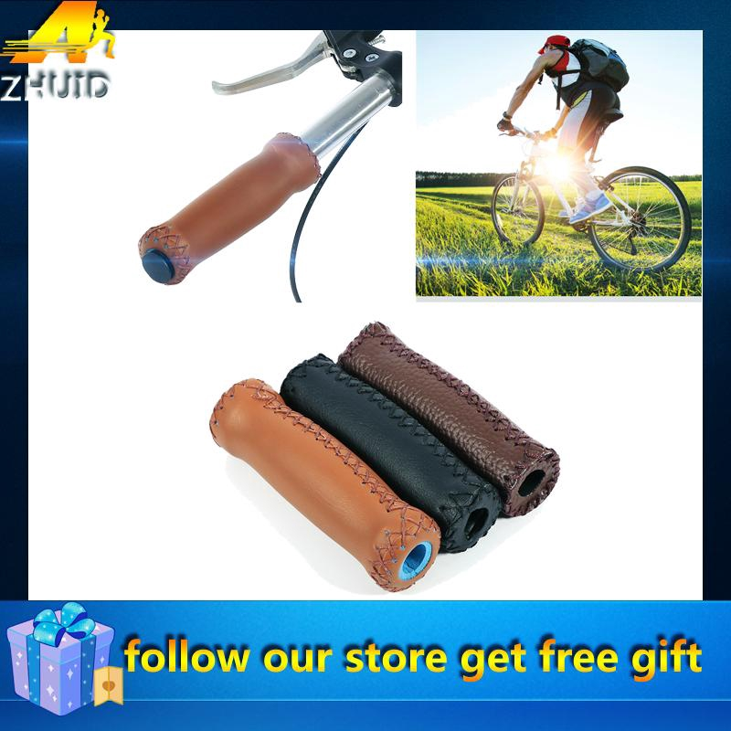Artificial Leather Ergonomic Mountain Bicycle Bike Cycling Handlebar Hand Grips