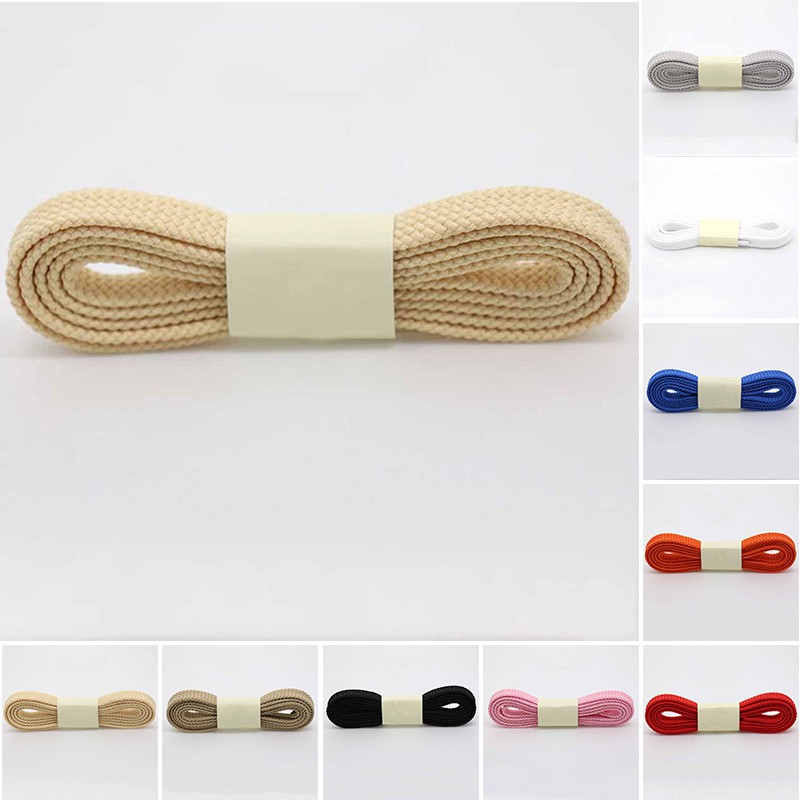wholesale dealer shades of cheapest Thick Flat Fat Shoe Laces Wide Shoelaces All Shoe Types Trainer ...