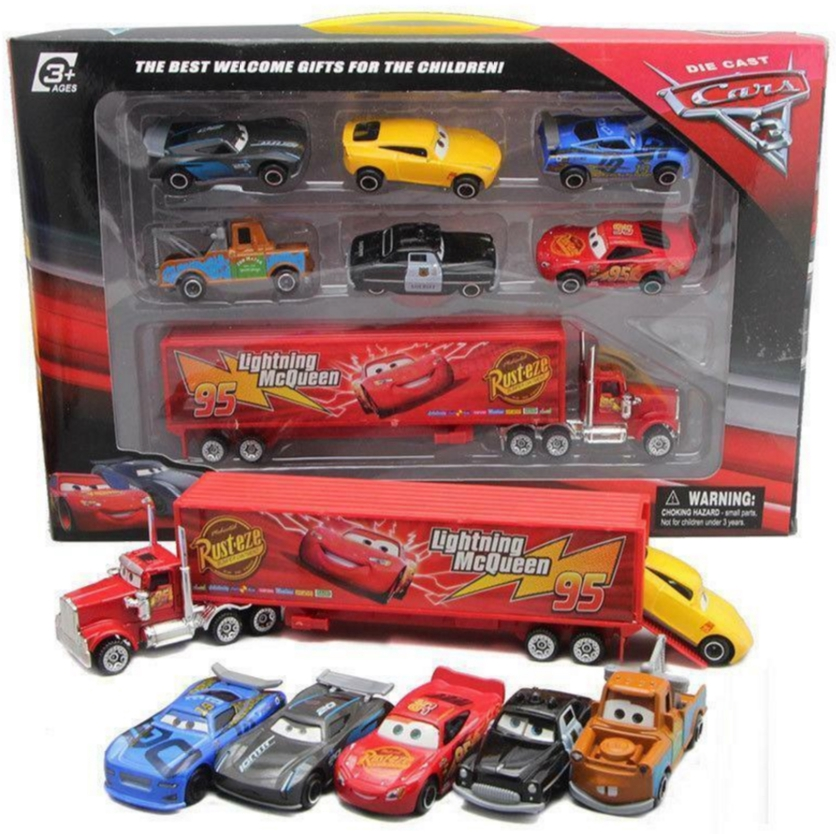 Pixar Cars Movie Toys Lightning Mcqueen Mack Uncle Truck Diecast Model Car For Children Gifts Shopee Singapore