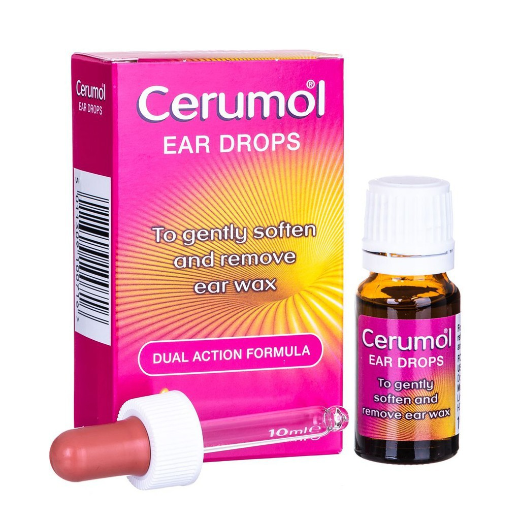 CERUMOL EAR WAX SOFTENER Dual Action Formula To Soften & Remove Ear Wax 10ml Made in UK