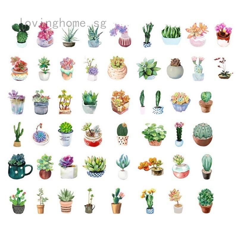 6pcs//lot Cactus Plants Decorative Washi Stickers Scrapbooking Stick Label Diary