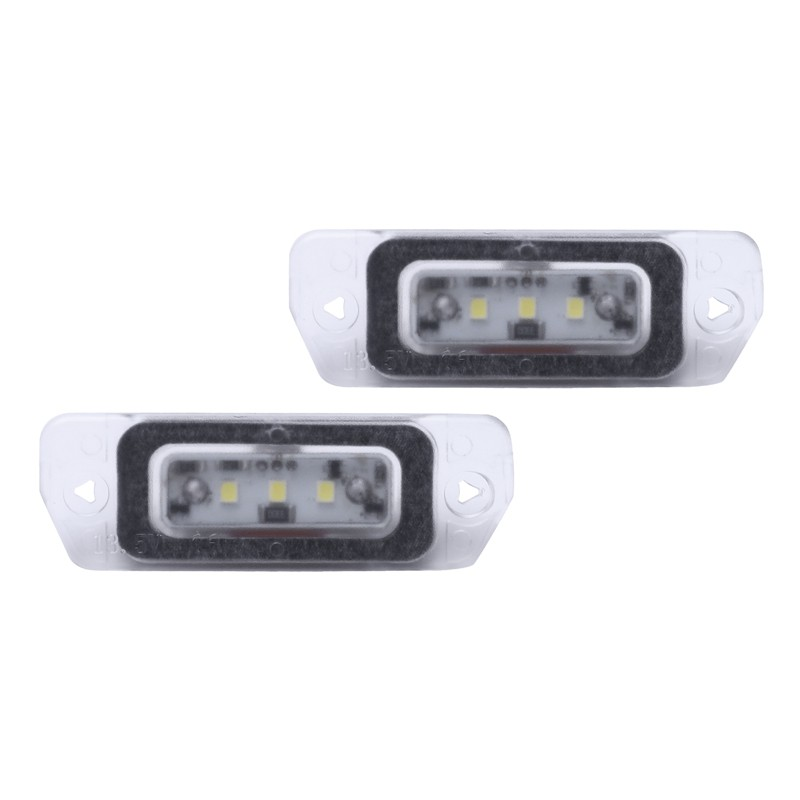 2x Mercedes M-Class W164 Bright Xenon White 3SMD LED Canbus Number Plate Bulbs