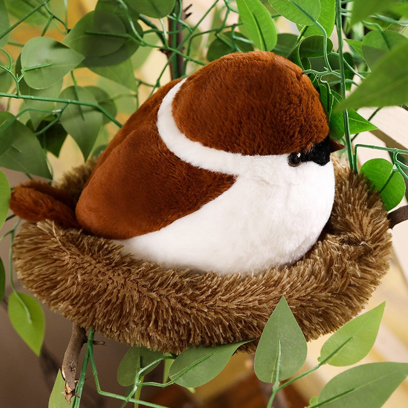 Animal Bird Sparrow Cute Plush Toy Soft Stuffed Doll Cushion Pillow Baby Gift