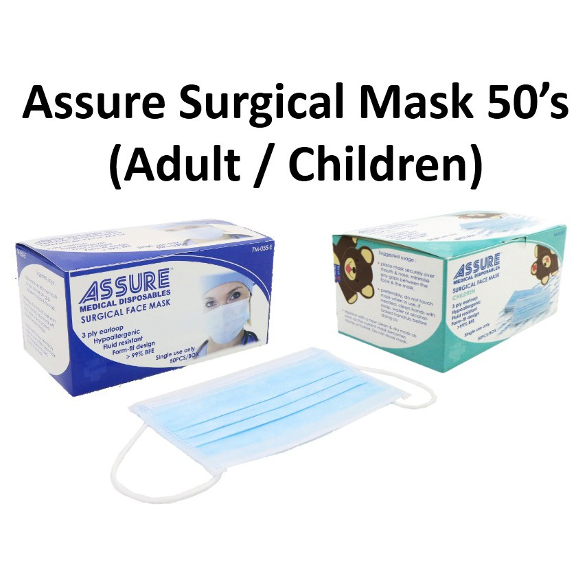 - seniorcare Face Assure haze Mask Box 50's dust