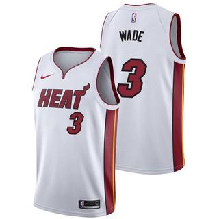 new arrival 45376 12b13 Stock* Original NIKE NBA Miami Heat Dwyane Wade #3 white ...