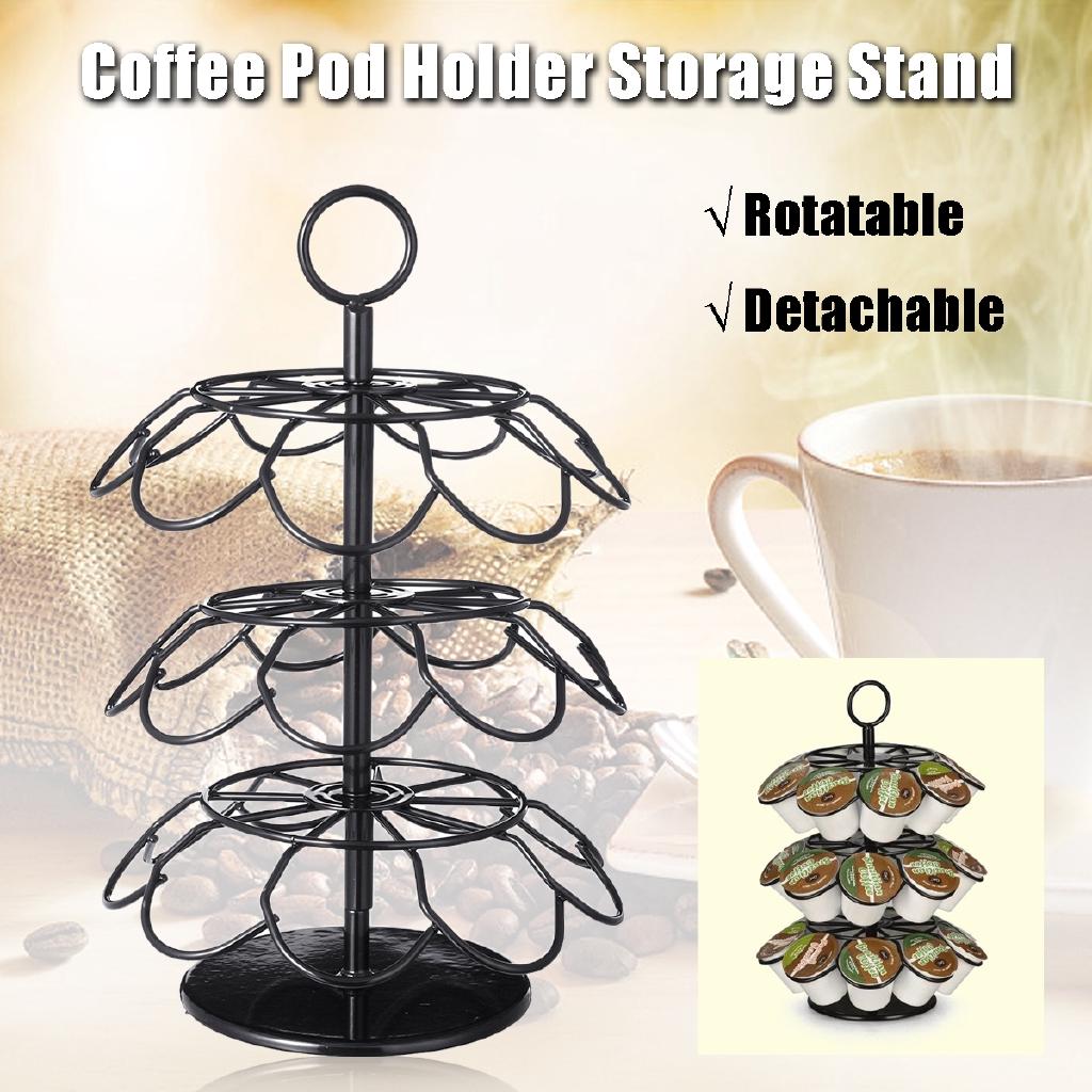 77185de9d66 36 Nespresso Coffee Capsule Holder Storage Stand Chrome Tower Mount Rack New