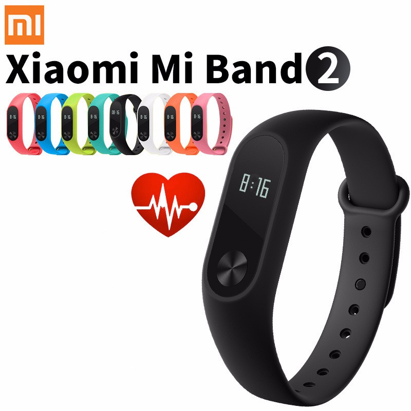 Original Xiaomi Mi Band 2 Smart Fitness Bracelet Watch | Shopee Singapore