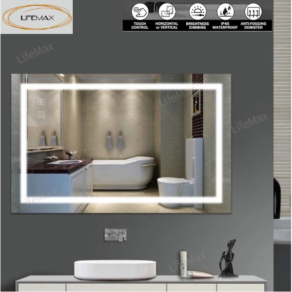 Sg Stock New Led Dimmber Bath Mirrors, Makeup Mirror Lighted Wall Mount