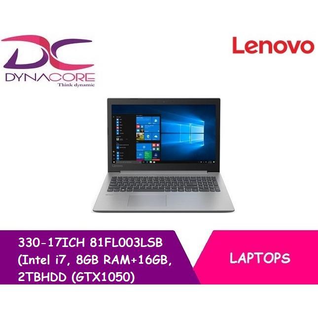 Lenovo 330-17ICH 81FL003LSB (Intel i7, 8GB RAM+16GB, 2TBHDD (GTX1050)