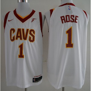 best authentic 13312 2919e NIKE NBA Cleveland Cavaliers Derrick Rose #1 white ...