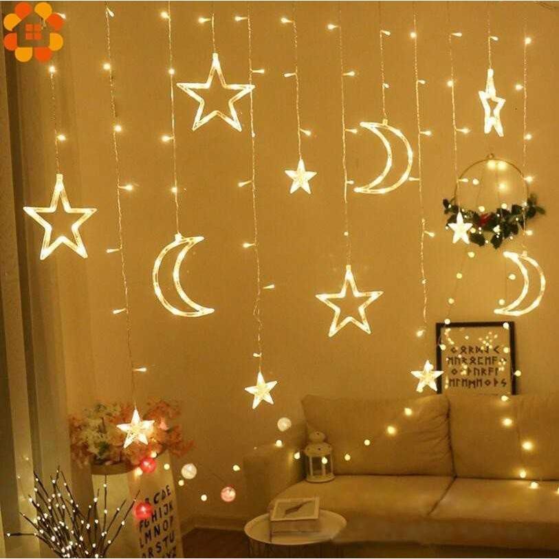 1set Ramadan Star Moon Ac 220v Led