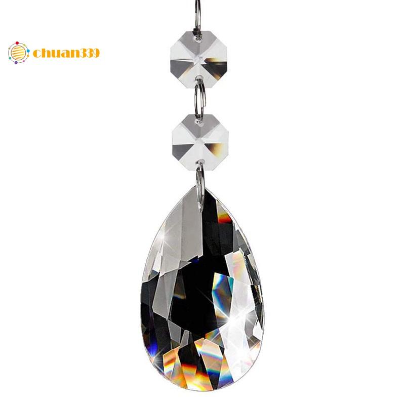20pcs Crystals Clear Teardrop Crystal