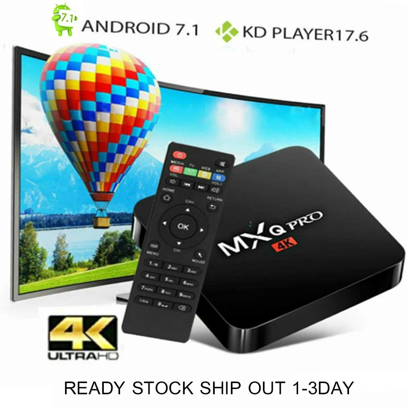 10000+ CHANNELS MXQ Pro 4K Android Box 1GB 8GB Android 7 1 Wifi Android Tv  Box