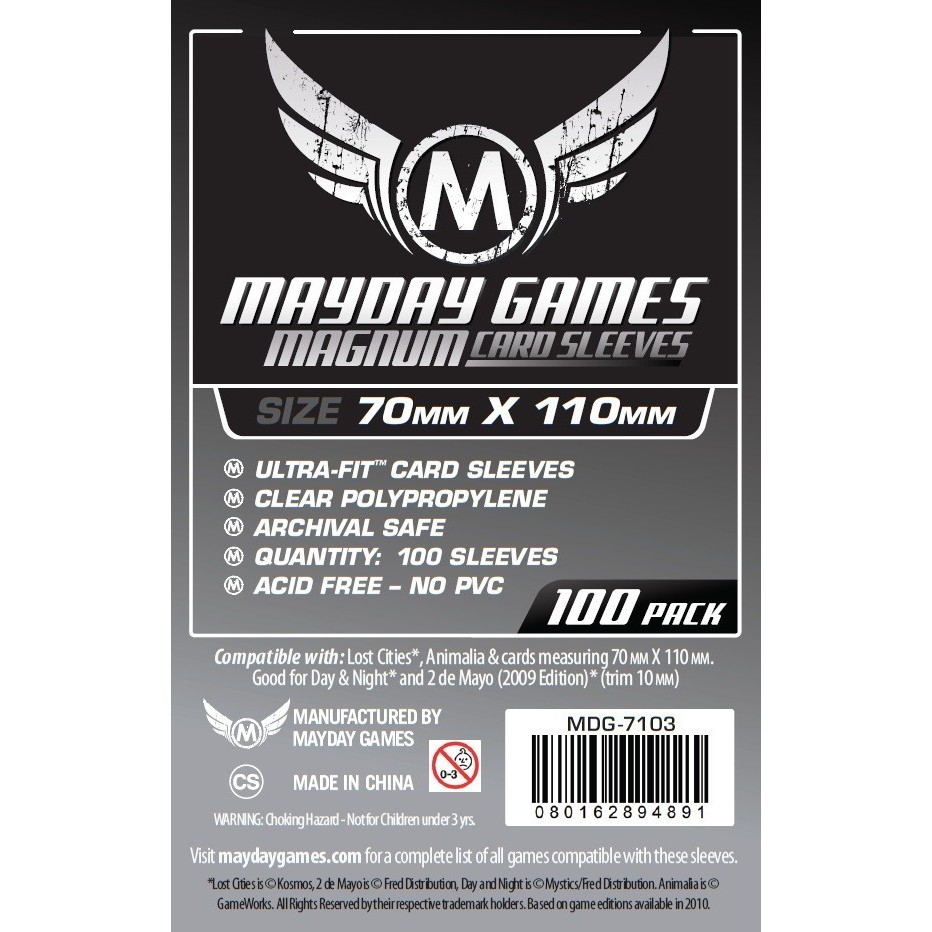 MDG 70x110mm Magnum Silver Ultra-Fit Card Sleeves 100/pk