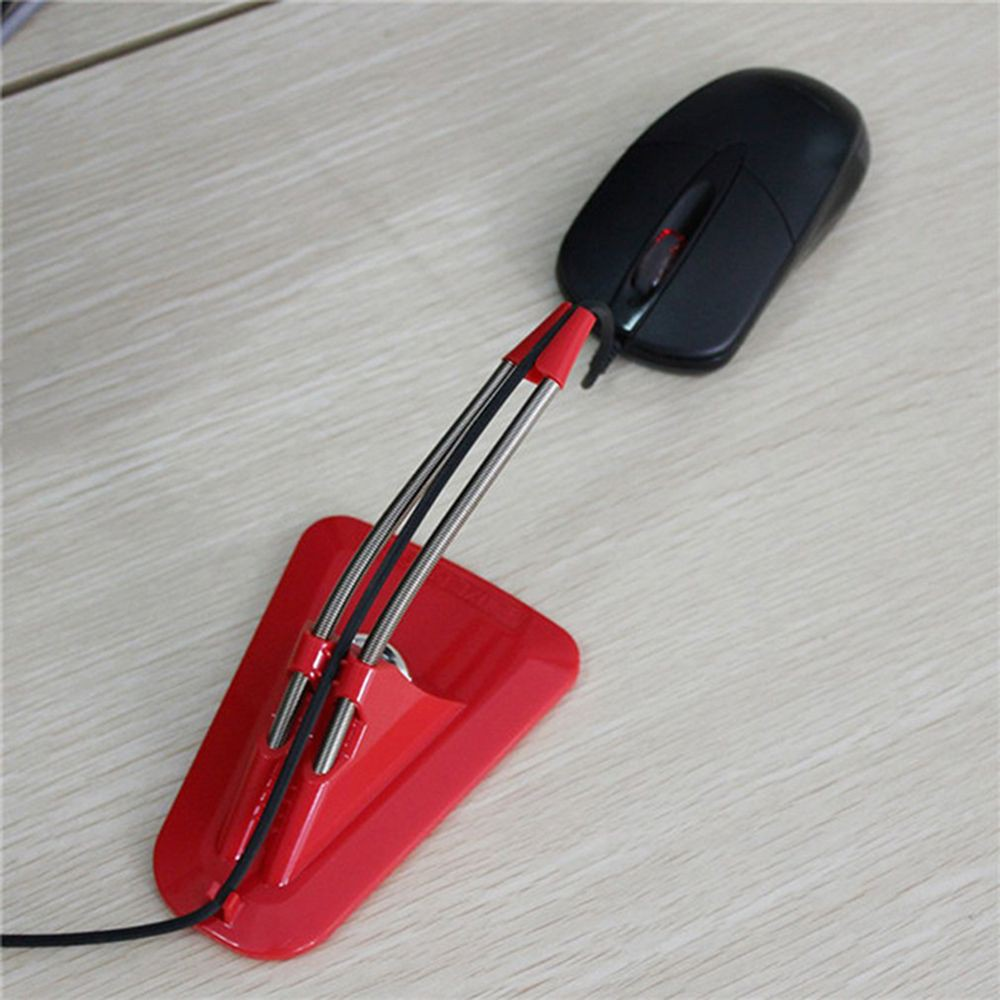 Mice Cord Clip Wire Line Organizer Mouse Cable Holder Bungee for LOL CS Dota