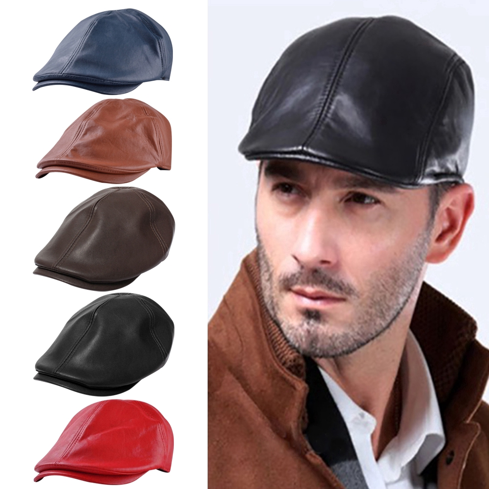 8c4ce35fd20 ❦Gatsby Color Driving Peaky Warm Cap Winter Baker Flat Style Hat ...