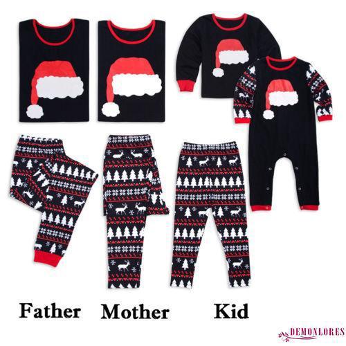 Cute Womens Christmas Pajamas.Loo Cute Matching Christmas Pajamas Set Men S Women Baby