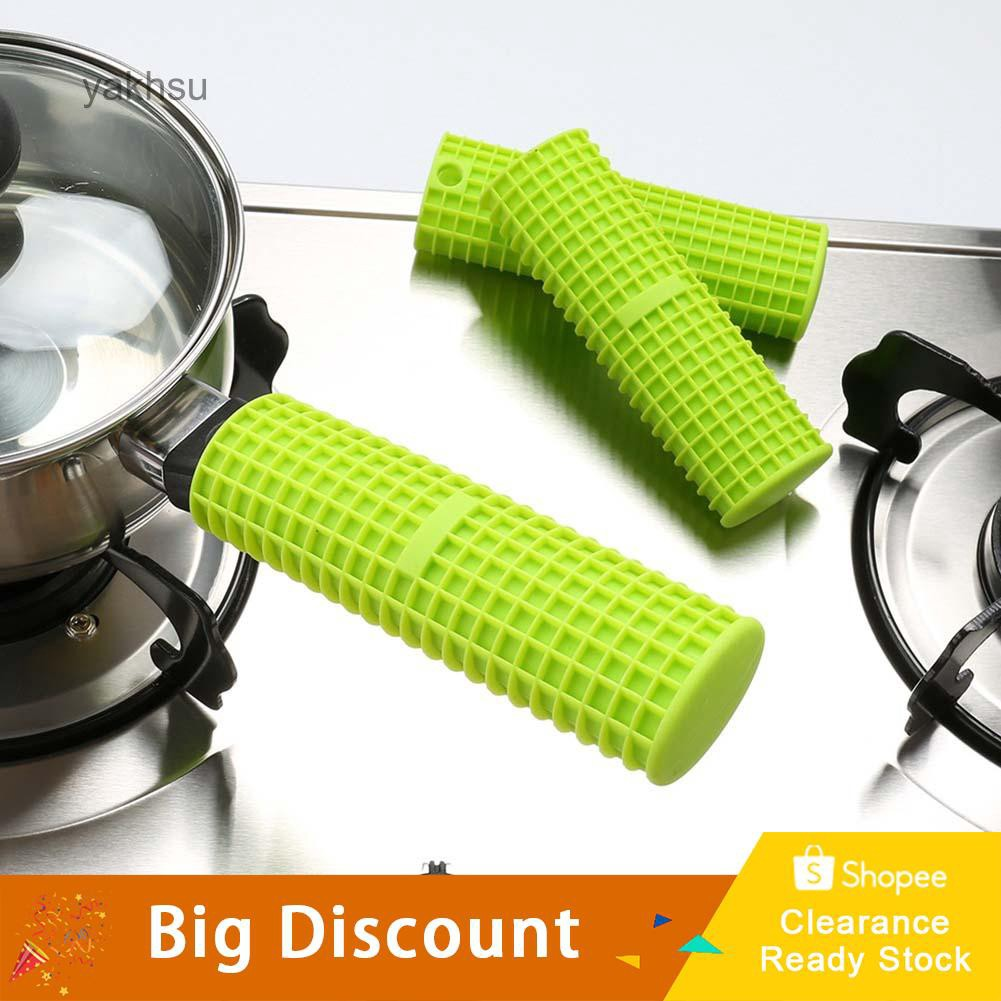 Silicone Pot Pan Handle Holder Sleeve Cover Grip Heat Proof Sleeve Kitchen Tools