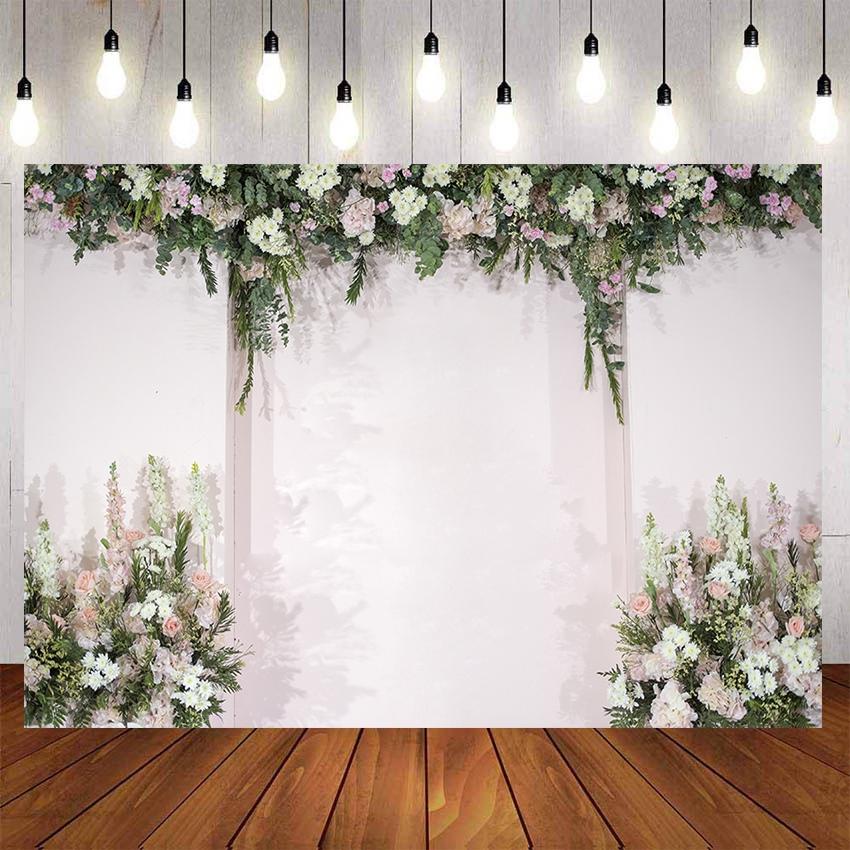Romantic Wedding Photo Backdrops For Photo Studio Flowers Wall Bridal Shower Party Photography Backgrounds Customized Big Size Shopee Singapore